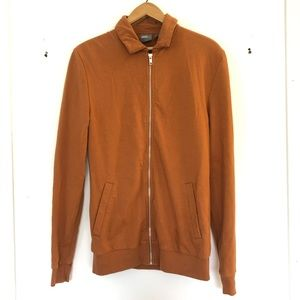 ASOS xs long caramel zip up collared sweater